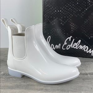Sam Edelman Tinsley White Rubber Rain Boots Size 7